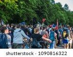 rostock  germany   may 14  2018 ... | Shutterstock . vector #1090816322