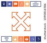 extend  resize  enlarge line...   Shutterstock .eps vector #1090816586