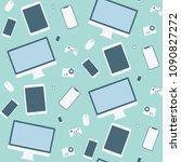 gadget pattern   seamless... | Shutterstock .eps vector #1090827272
