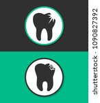 tooth decay vector icon.   Shutterstock .eps vector #1090827392