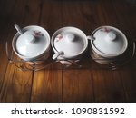 condiments containers. chilli... | Shutterstock . vector #1090831592