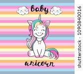 cute unicorn and inscription... | Shutterstock .eps vector #1090840016
