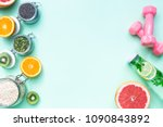 food for fitness  healthy... | Shutterstock . vector #1090843892