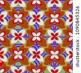 new color seamless pattern with ... | Shutterstock .eps vector #1090845326