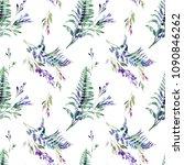 summer flowers seamless pattern.... | Shutterstock . vector #1090846262
