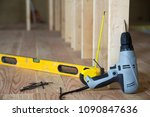 close up of professional tools  ... | Shutterstock . vector #1090847636