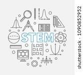 stem round modern illustration... | Shutterstock .eps vector #1090852952