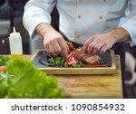 Closeup Chef Hands Hotel Restaurant - Fine Art prints