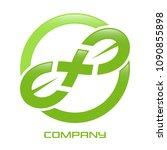leaves and cross logo   Shutterstock .eps vector #1090855898