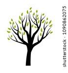 stylized vector tree  | Shutterstock .eps vector #1090862075