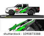 truck wrap design vector.... | Shutterstock .eps vector #1090873388