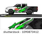 truck wrap design vector.... | Shutterstock .eps vector #1090873412