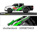 truck wrap design vector.... | Shutterstock .eps vector #1090873415