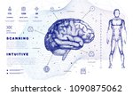 dna analysis on medical systems ...   Shutterstock .eps vector #1090875062