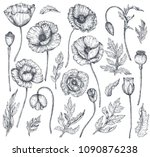 vector collection of hand drawn ... | Shutterstock .eps vector #1090876238