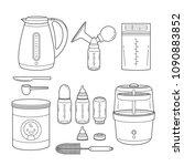icons set of equipment for... | Shutterstock .eps vector #1090883852