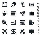 set of vector isolated black... | Shutterstock .eps vector #1090896212