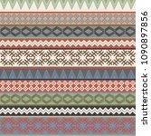 vintage ethnic geometric motifs ... | Shutterstock . vector #1090897856