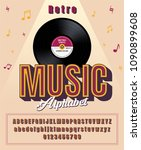 stylized classic abstract retro ... | Shutterstock .eps vector #1090899608