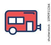 caravan travel tour  | Shutterstock .eps vector #1090911266
