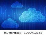 2d rendering cloud computing ... | Shutterstock . vector #1090913168