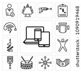 set of 13 simple editable icons ... | Shutterstock .eps vector #1090919468
