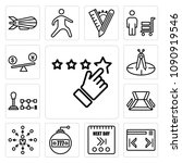 set of 13 simple editable icons ...   Shutterstock .eps vector #1090919546