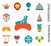 set of 13 simple editable icons ...   Shutterstock .eps vector #1090919642