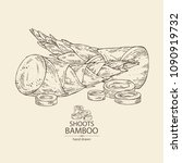 bamboo shoots  young bamboo... | Shutterstock .eps vector #1090919732