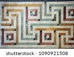 an ancient roman mosaic art...   Shutterstock . vector #1090921508