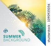 summer tropical with exotic... | Shutterstock .eps vector #1090935056
