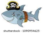 pirate shark topic image 4  ... | Shutterstock .eps vector #1090954625
