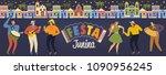 festa junina illustration.... | Shutterstock .eps vector #1090956245