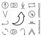 set of 13 simple editable icons ... | Shutterstock .eps vector #1090964222