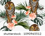 beautiful seamless vector... | Shutterstock .eps vector #1090965512