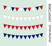 bunting collection in british... | Shutterstock .eps vector #1090972808