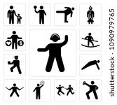 set of 13 simple editable icons ... | Shutterstock .eps vector #1090979765