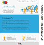 website  easy editable | Shutterstock .eps vector #109098002