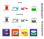 thread reel  sewing machine ... | Shutterstock .eps vector #1090982438