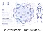 dna analysis on medical systems ...   Shutterstock .eps vector #1090983566