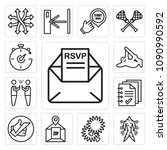 set of 13 simple editable icons ... | Shutterstock .eps vector #1090990592