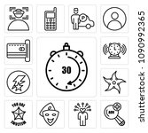 set of 13 simple editable icons ... | Shutterstock .eps vector #1090992365