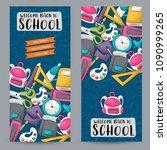 back to school concept.... | Shutterstock .eps vector #1090999265