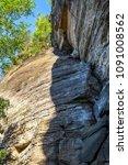 sandstone rocks in the bohemian ... | Shutterstock . vector #1091008562