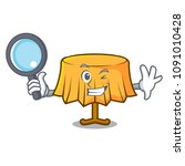 detective table cloth character ...   Shutterstock .eps vector #1091010428