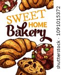 vector hand drawn design poster ... | Shutterstock .eps vector #1091015372