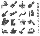 vectot flat icon set collection ... | Shutterstock .eps vector #1091015432