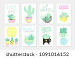 set of 8 cute ready to use gift ... | Shutterstock .eps vector #1091016152
