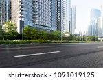 urban roads and greening | Shutterstock . vector #1091019125