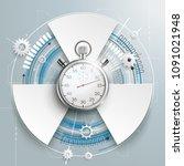 futuristic gear wheel with 3... | Shutterstock .eps vector #1091021948